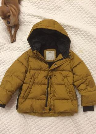 Стильная куртка zara р 110( на 98/104 р