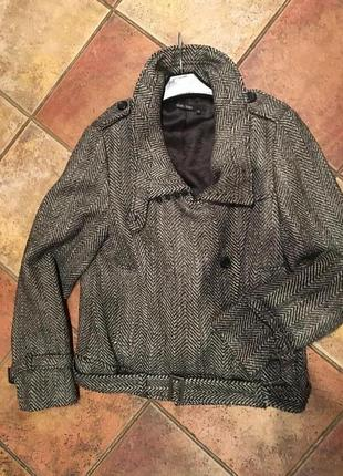Куртка косуха из пальтовой ткани