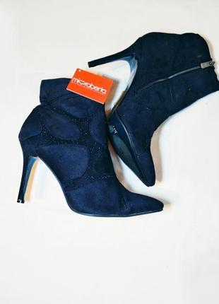 Стильные ботинки/ботильоны/полусапоги на высоком каблуке/шпильке miss roberta