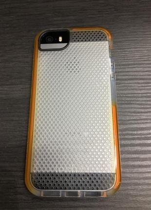 Фирменный противоударный чехол tech21 для iphone 5 5s se прозрачный