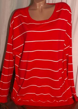 Шикарный свитер (5-6 хл) вискоза + нелон, полосатый, к телу приятный, отлично смотрится.
