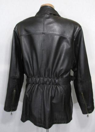 Люксовая курточка косуха из натуральной кожи