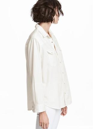 Джинсовая рубашка оверсайз р.38 m h&m denim