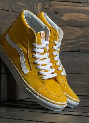 Кеды vans old scool sk8 high yellow