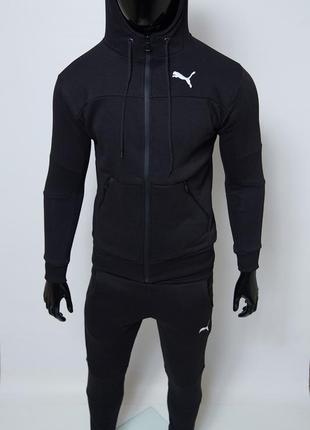 Костюм спортивный мужской теплый pm 8332-01 черный