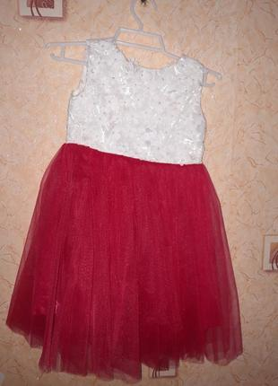 """Нарядное платье """"малинка"""""""
