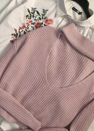 Трендовый свитер оверсайз с чокером glamorous2 фото