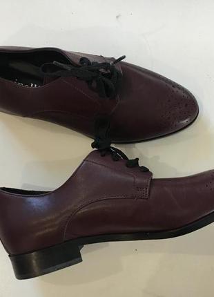 Стильные фирменные туфли оксфорд стелька 24 см