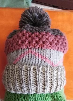 Стильная тёплая шапочка.