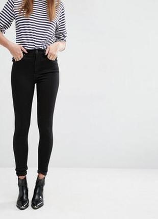 Чёрные джинсы super skinny от denim co