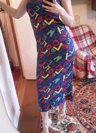 Платье - сарафан пляжное, домашнее, хлопковое, летнее, тонкое