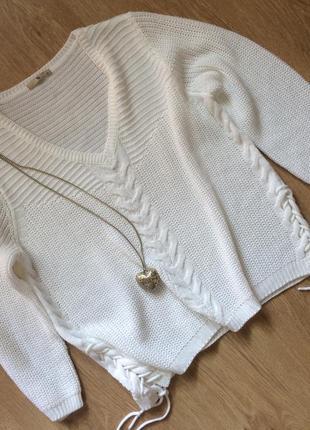 Стильный свитер с завязками размер 12-14