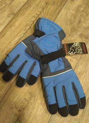 Очень теплые и легкие зимние спортивнык лыжные мужские перчатки р.л-2хл.германия