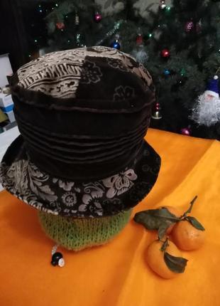 Красивая шляпка / велюр/ seeberger