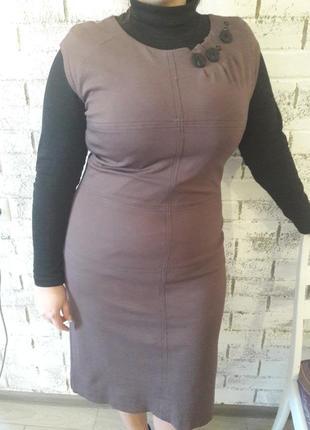 Деловое платье-сарафан для стильной леди