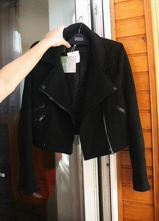 Обалденная замшевая куртка-косуха missguided