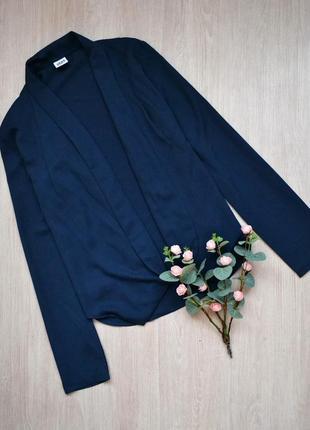 Тёмно-синий блейзер кардиган vero moda