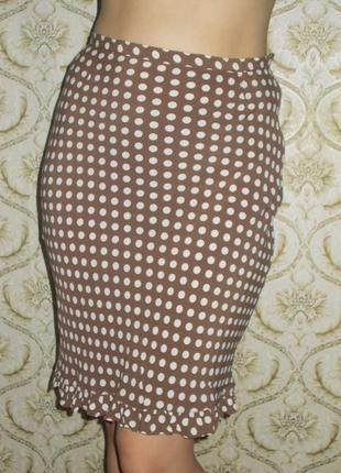 Стильная юбка в горошек р. 46/m-l