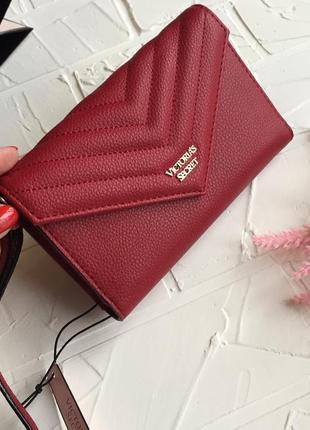 Красный кошелёк victoria's secret оригинал по виктория сикрет кошелёк