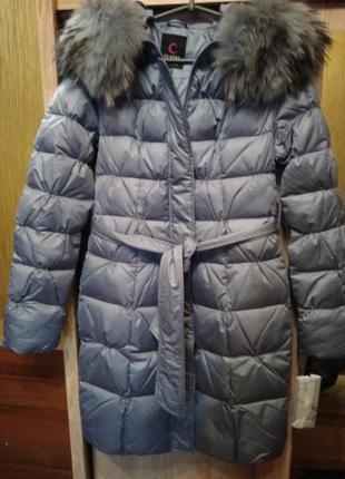 Пуховик clasna пух перо куртка зимняя