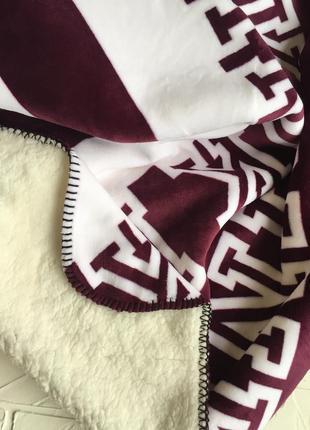 Плюшевый плед victoria's secret pink оригинал, большой толстый тёплый плед одеяло5