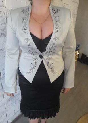 Шикарный деловой костюм для стильной леди