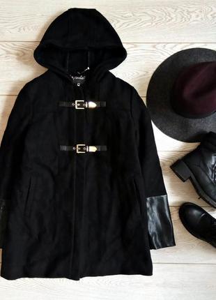 Теплое пальто дафлкот на синтапоновой подкладке