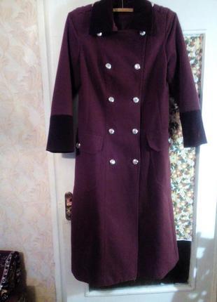 Пальто в стиле милитари макси