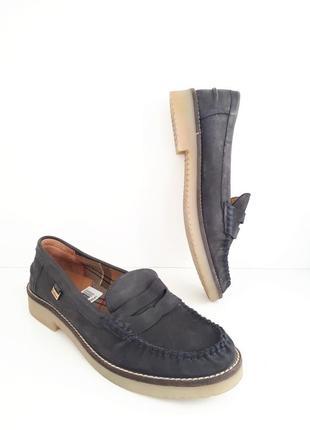 Кожаные туфли нубук лоферы barbour 1118103