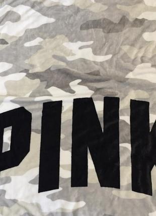 Плед victoria's secret pink оригинал, мягкий пледик одеяло виктория сикрет камуфляж