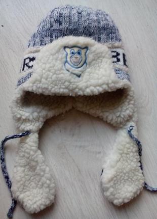 Зимняя шапка 4-6 лет.