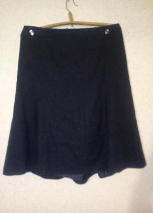 Тепленькая льняная юбка на подкладке пот 58