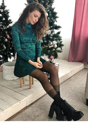 Велюровое платье   футблка из наличия в подарок