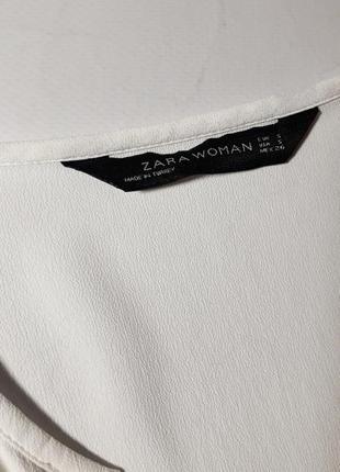 Белая блуза фирмы zara s/m4