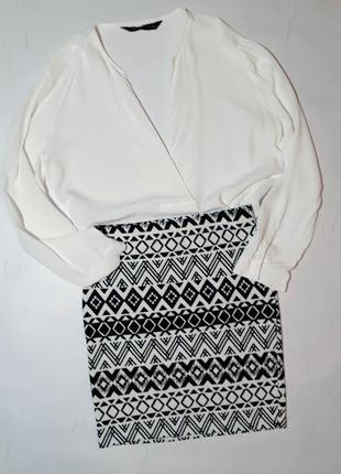 Белая блуза фирмы zara s/m