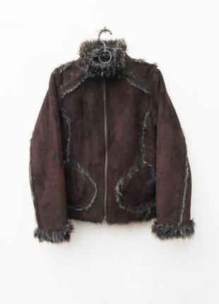 Зимняя меховая куртка дубленка