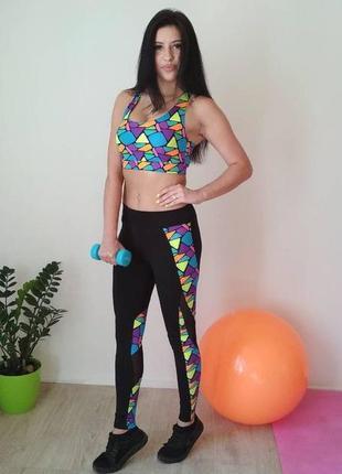 Топ и штаны для спорта ,фитнеса .42-48.комплект