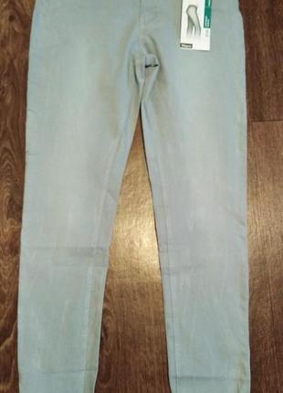 Голубые джинсы с утяжкой charles vogle р.40