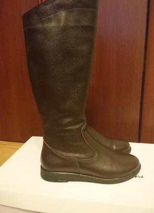 700 грн в январе! кожаные деми сапоги адель-мд8 soldi 39 р.