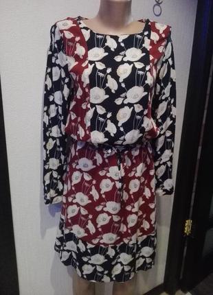 Крутое стильное платье 100% вискоза с модным принтом маки bon'a parte