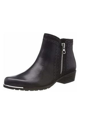 Демисезонные кожаные ботинки caprice walking on air