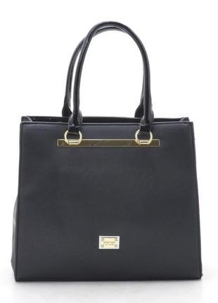 Женская деловая сумка из плотного кожзама 8729