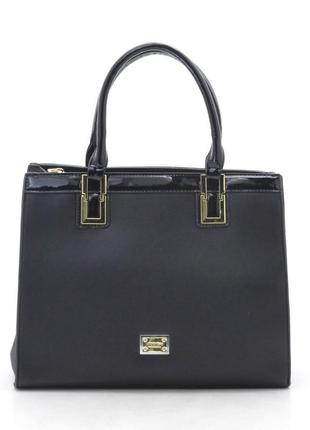Женская деловая сумка из плотного кожзама 58265
