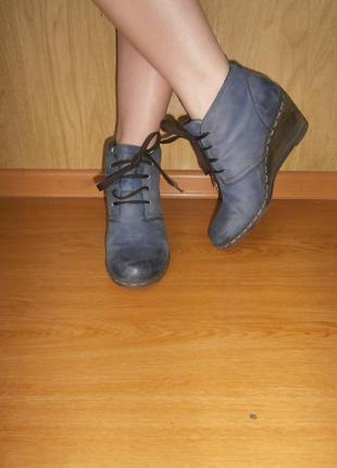 Симпатичные/удобные ботиночки/нат.кожа/танкетка/24,5 см/германия