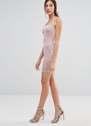 Шикарное бархатное платье new look