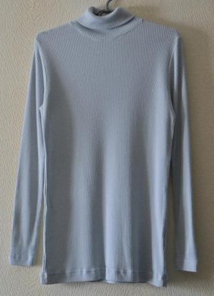 Шерстяной гольф свитер в рубчик p.l-xl 100% шерсть hauber