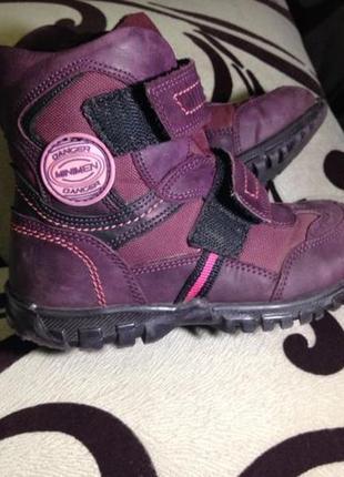 Minimen ботинки для девочек 27р. еврозима термо
