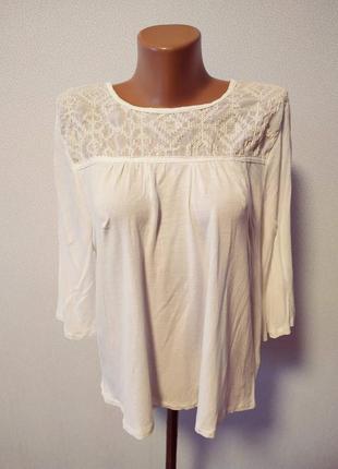 Блуза с вышивкой свободный фасон / горячая цена/ скидки!