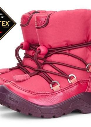 Мембранные зимние ботинки ecco экко snowride р. 22 оригинал индонезия