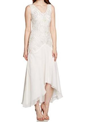Белое фирменное платье для любого праздника! frock and frill от asos